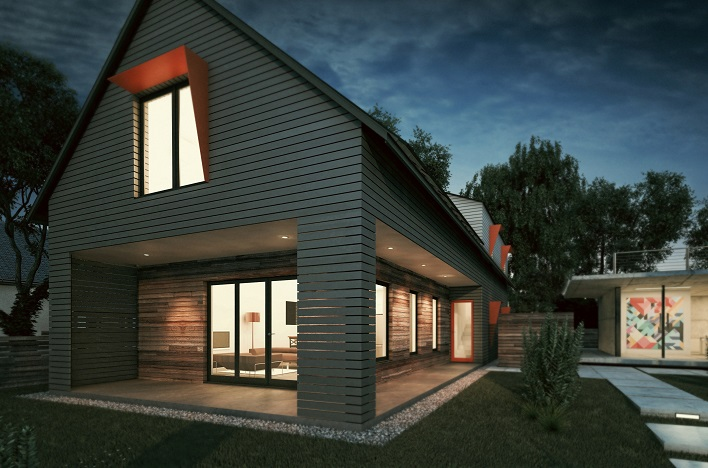 Acre designs plans to build 39 netzero 39 home in startup for Netzero home plans