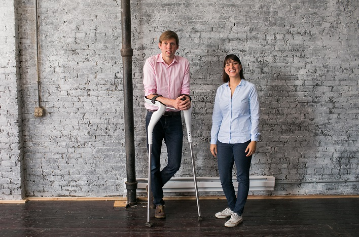 Mobility Designed's Liliana and Max Younger Create User-Friendly Crutch